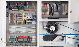 Maschinenelektronik Stockbild