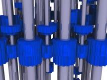 Maschinengänge stock abbildung