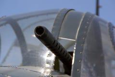 Maschinengewehr des Flugzeuges WW2 Stockfoto