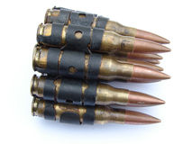 Maschinengewehr-Gewehrkugeln Lizenzfreie Stockfotos