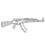 Maschinengewehr-Kalaschnikow-Vektor-Illustration AK 47 vektor abbildung