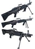 Maschinengewehr M60 lokalisiert Lizenzfreie Stockfotos