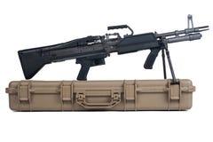 Maschinengewehrkasten weicher sicherer Speicher-Kasten lokalisiert Stockbilder