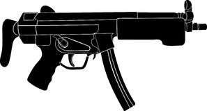 Maschinenpistole Lizenzfreie Stockfotos