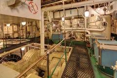 Maschinenraum, Generatorsätze Lizenzfreies Stockfoto