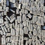 Maschinenschriftsatz Lizenzfreie Stockbilder