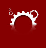 Maschinentechnikgänge. Retro- Zahnradmechanismus bacground Stockfoto
