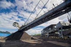 Maschinerie-Prozess in der Kohlengrube Stockfoto