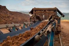 Maschinerie-Prozess in der Kohlengrube Stockbilder