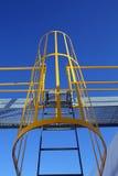 Maschinerie-Strichleiter Stockfoto
