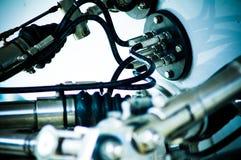 Maschinerie und Hydraulik Stockfotos