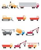 Maschines engraçados da construção Foto de Stock Royalty Free