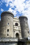 Maschio Angioino,那不勒斯意大利城堡  免版税库存照片