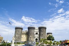 Maschio Angioino,那不勒斯意大利城堡  库存照片