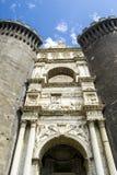 Maschio Angioino,那不勒斯意大利城堡  免版税图库摄影