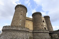 Maschio Angioino Castel Nuovo in Naples, Italy, Campania regio Royalty Free Stock Photos