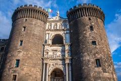 Maschio Angioino, Nápoles, Italia Imagen de archivo libre de regalías