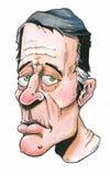 Maschio anziano stanco con l'espressione triste corrugata funerea di cane bastonato royalty illustrazione gratis