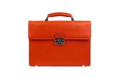 Maschio arancione briefcase-1 fotografia stock