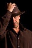 Maschio bello con il cappello Fotografia Stock Libera da Diritti