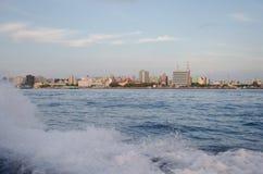 maschio città maldives Fotografia Stock Libera da Diritti