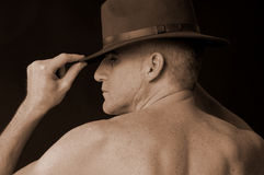 Maschio con il cappello Fotografia Stock