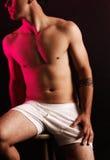 Maschio con il tatuaggio tribale Fotografia Stock Libera da Diritti