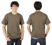 Maschio con la camicia in bianco della castagna Fotografia Stock Libera da Diritti