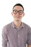 Maschio dell'asiatico del nerd Immagine Stock
