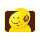 Maschio dell'icona di servizio di assistenza al cliente Fotografie Stock Libere da Diritti
