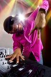 Maschio DJ Immagine Stock