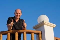 Maschio felice in vacanza Fotografia Stock