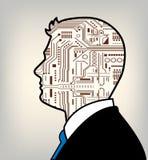 Maschio futuristico e robot combinati Fotografie Stock