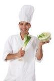 Maschio nepalese attraente del cuoco unico, porro Immagini Stock Libere da Diritti