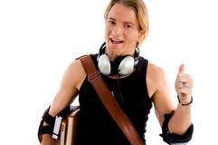 Maschio sorridente che mostra pollice in su Fotografie Stock