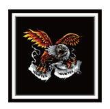 Masco americano calvo da águia dos desenhos animados, arte do vetor ilustração do vetor