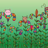 Mascot abstract colorful plant Stock Photo