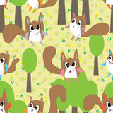 Mascot Animal Monster Flower Seamless Pattern Royalty Free Stock Image