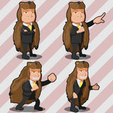 Mascot Bear Business Man Russia Stock Images
