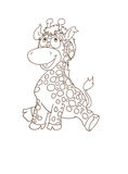 Mascot Beyond small giraffe chine coloring for kids Stock Photos