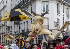 Mascot - Carnaval de Paris 2018 royalty free stock images