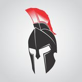 MASCOT CHARACTER POWERFUL SPARTAN WARRIOR Royalty Free Stock Photo