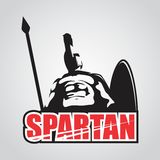 MASCOT CHARACTER POWERFUL SPARTAN WARRIOR Stock Photos