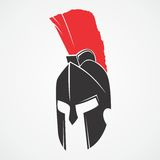 MASCOT CHARACTER POWERFUL SPARTAN WARRIOR Royalty Free Stock Image