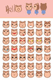 Mascot cute monkey template. Illustration expression cute mascot monkey idea template white background fun cute sticker label background stock illustration