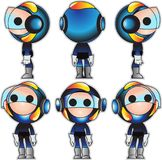 Mascot design hero royalty free illustration
