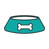 Mascot dish with bone. Vector illustration design Royalty Free Stock Photography