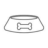 Mascot dish with bone. Vector illustration design Stock Photo