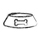 Mascot dish with bone. Vector illustration design Stock Photography