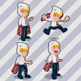 Mascot Eagle Business Man America Royalty Free Stock Image